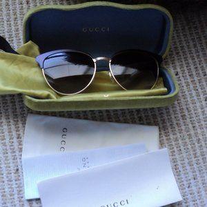 Gucci GG0074S Metal Ladies Sunglasses